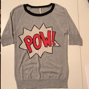 Pow! Willow & Clay short sleeve sweater, sz small